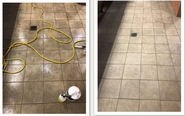 Before & After Tile and Grout Cleaning in Centennial, CO (1)